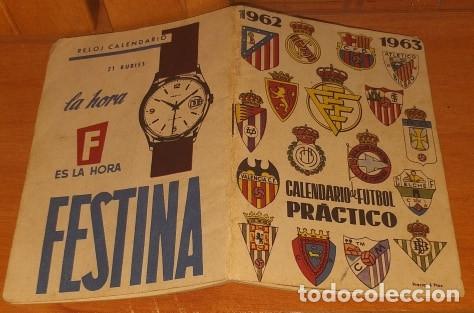 Coleccionismo deportivo: CALENDARIO DINAMICO TEMPORADA 1962-1963 CALENDARIO DE FUTBOL PRACTICO DINAMICO 1962--1963 - Foto 2 - 174971885