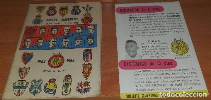 CALENDARIO DINAMICO TEMPORADA 1962-1963 CALENDARIO DE FUTBOL PRACTICO DINAMICO 1962--1963 CON SUPLEM (Coleccionismo Deportivo - Documentos de Deportes - Calendarios)