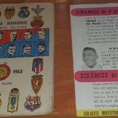 Coleccionismo deportivo: CALENDARIO DINAMICO TEMPORADA 1962-1963 CALENDARIO DE FUTBOL PRACTICO DINAMICO 1962--1963 CON SUPLEM. Lote 174974715