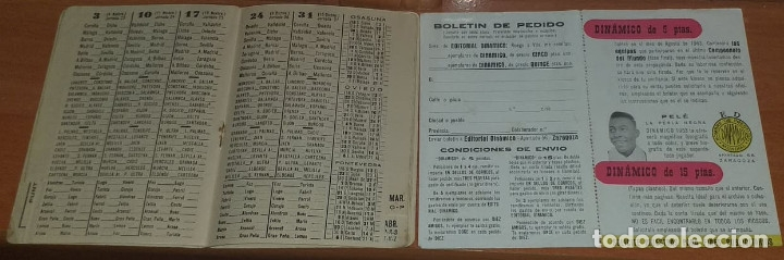 Coleccionismo deportivo: CALENDARIO DINAMICO TEMPORADA 1962-1963 CALENDARIO DE FUTBOL PRACTICO DINAMICO 1962--1963 CON SUPLEM - Foto 3 - 174974715