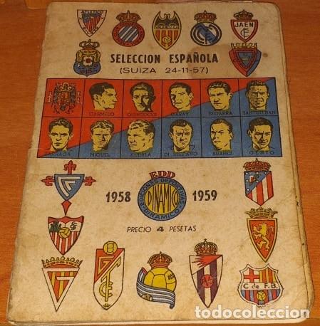 CALENDARIO DINAMICO TEMPORADA 1958-1959 CALENDARIO DE FUTBOL PRACTICO DINAMICO 1958--1959 (Coleccionismo Deportivo - Documentos de Deportes - Calendarios)