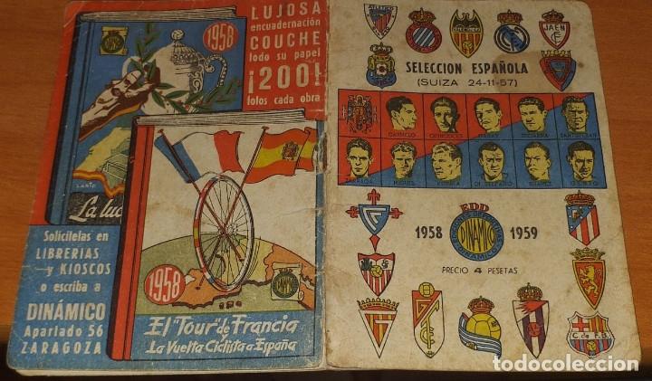 Coleccionismo deportivo: CALENDARIO DINAMICO TEMPORADA 1958-1959 CALENDARIO DE FUTBOL PRACTICO DINAMICO 1958--1959 - Foto 2 - 174975869