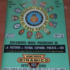 Coleccionismo deportivo: CALENDARIO DINAMICO LIGA FUTBOL 1979-1980 SUPLEMENTO. Lote 174976929