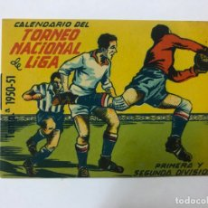 Coleccionismo deportivo: CALENDARIO TORNEO NACIONAL DE LIGA 1ª,2ª TEMPORADA 1950-51 - OBS. BAR ARIZA CÓRDOBA. Lote 177316102