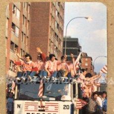 Coleccionismo deportivo: ATHLETIC CLUB BILBAO. CELEBRACIÓN DOBLETE EN CAMIÓN. CALENDARIO DE 1985. BAR RAINBOW (ZORROZA).. Lote 177509483