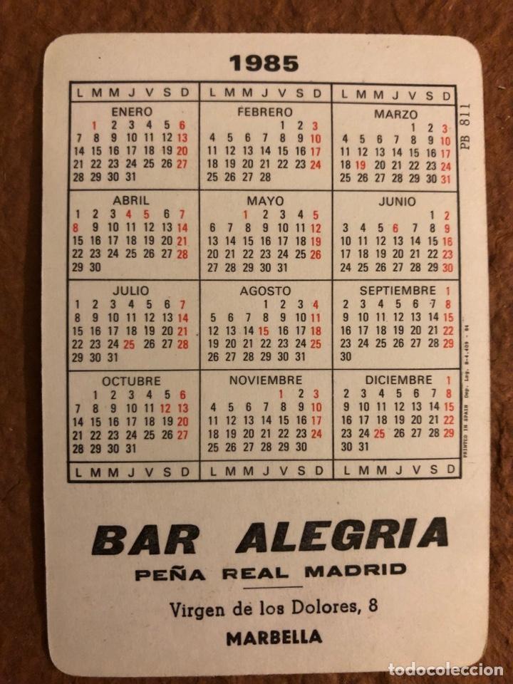 Coleccionismo deportivo: REAL MADRID CLUB DE FÚTBOL DE BALONCESTO. CALENDARIO DE 1985. DIBUJO NIÑO. BAR ALEGRÍA (MARBELLA). - Foto 2 - 177528730