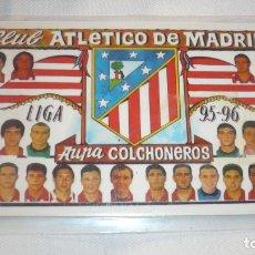 Coleccionismo deportivo: CALENDARIO PLASTIFICADO ATLÉTICO DE MADRID AÑO 1996. Lote 177715329