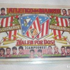 Coleccionismo deportivo: CALENDARIO PLASTIFICADO DEL ATLÉTICO DE MADRID; AÑO 1997. Lote 177715430