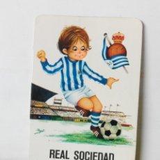 Coleccionismo deportivo: CALENDARIO DE BOLSILLO AÑO 1974 REAL SOCIEDAD. Lote 178152250