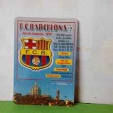 Coleccionismo deportivo: CALENDARIO DE BOLSILLO AÑO 2002 F.C.BARCELONA. Lote 178154145