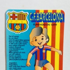 Coleccionismo deportivo: CALENDARIO DE BOLSILLO AÑO 1995 F.C.BARCELONA. Lote 178154448