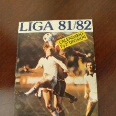 Coleccionismo deportivo: CALENDARIO LIGA 81/82. Lote 178200050