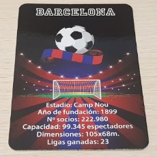 Coleccionismo deportivo: CALENDARIO BOLSILLO - FÚTBOL - FÚTBOL CLUB BARCELONA - AÑO 2016. Lote 178560042