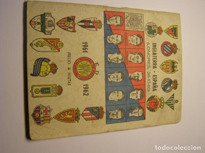CALENDARIO DINÁMICO DE FUTBOL TEMPORADA 1961 - 1962 (Coleccionismo Deportivo - Documentos de Deportes - Calendarios)