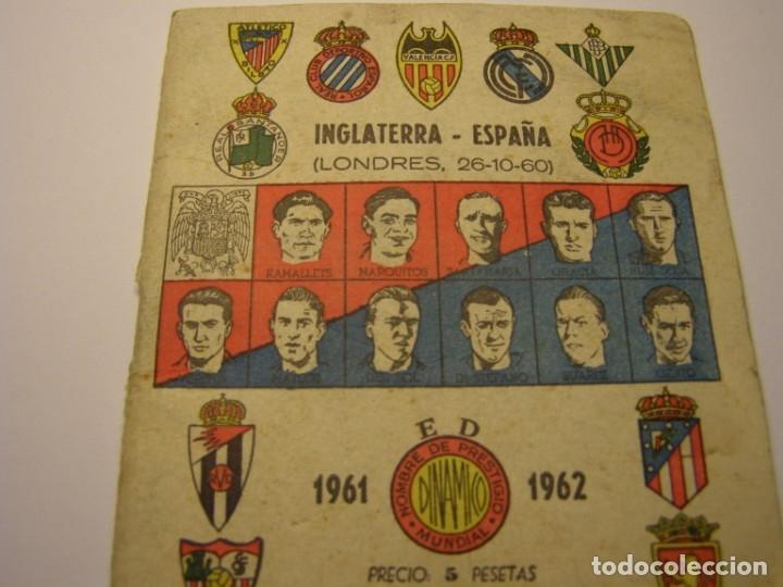 Coleccionismo deportivo: Calendario dinámico de futbol temporada 1961 - 1962 - Foto 2 - 179115707