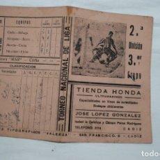 Coleccionismo deportivo: CALENDARIO DE FUTBOL 1942 - 43 . Lote 179943221