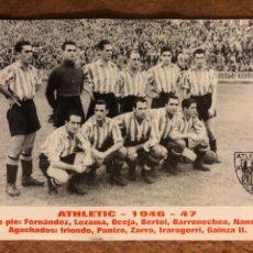 Coleccionismo deportivo: ATHLETIC CLUB DE BILBAO TEMPORADA 1946/47 (ALINEACIÓN). CALENDARIO PUBLICITARIO DE 2003. PEÑA IMANOL. Lote 180326401