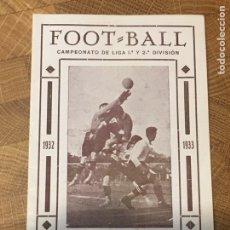 Coleccionismo deportivo: CALENDARIO DE FÚTBOL 1932-33 SIN USAR. Lote 180507841