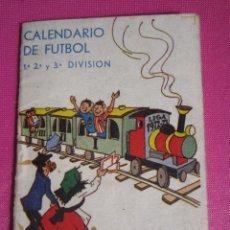 Coleccionismo deportivo: CALENDARIO DE FUTBOL 1ª 2ª Y 3ª DIVISION LIGA 1972 DE ALFONSO PININ GARAJE PEÑA. C43. Lote 181187332