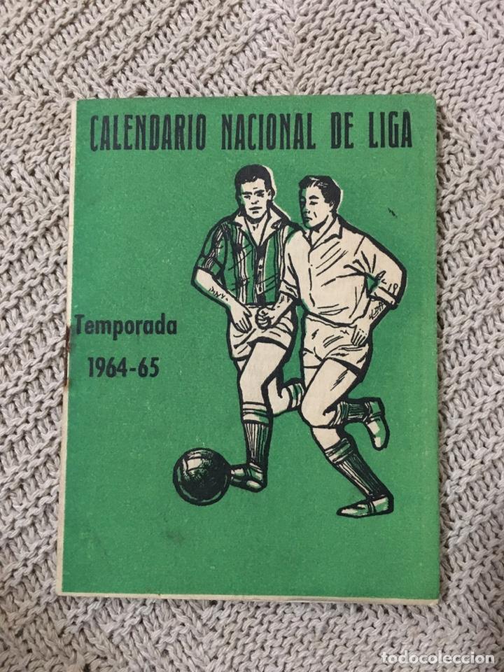 Coleccionismo deportivo: Calendario nacional de liga temporada 1964/65, publicidad bar andres de córdoba - Foto 2 - 182218582