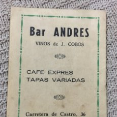 Coleccionismo deportivo: CALENDARIO NACIONAL DE LIGA TEMPORADA 1964/65, PUBLICIDAD BAR ANDRES DE CÓRDOBA. Lote 182218582