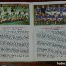 Coleccionismo deportivo: CALENDARIO DE LIGA 1968-69, GALERIA DE CLUBS INTERNACIONALES, EQUIPPOS MANCHESTER UNITED, REAL MADRI. Lote 182582738