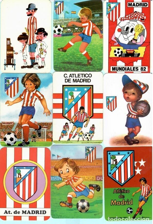 21 CALENDARIOS DE FUTBOL DEL AT, MADRID DE LOS AÑO 1972 AL 2018 TIENE 11 PUBLICIDAD Y 1O SIM (Coleccionismo Deportivo - Documentos de Deportes - Calendarios)