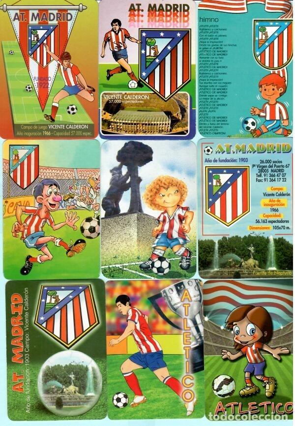 Coleccionismo deportivo: 21 calendarios de futbol del at, madrid de los año 1972 al 2018 tiene 11 publicidad y 1o sim - Foto 2 - 182665308
