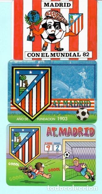 Coleccionismo deportivo: 21 calendarios de futbol del at, madrid de los año 1972 al 2018 tiene 11 publicidad y 1o sim - Foto 3 - 182665308