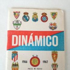 Coleccionismo deportivo: CALENDARIO DE FUTBOL, DINAMICO TEMPORADA 1966 -1967, FOTOS EQUIPOS EN 1ª Y 2ª DIVISION CORDOBA EN 1. Lote 182730300