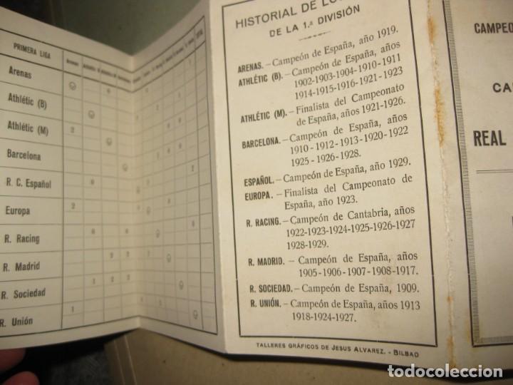 Coleccionismo deportivo: único calendario real federacion española futbol 1r campeonato nacional liga año 1929 union de clubs - Foto 4 - 183513870