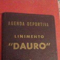 Coleccionismo deportivo: AGENDA DEPORTIVA LINIMENTO.DAURO.GRANADA CALENDARIO FUTBOL TEMPORADA 1945-46 FOTOS.. Lote 184308566