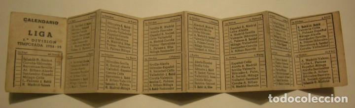 Coleccionismo deportivo: CALENDARIO DE LIGA 1ª DIVISION TEMPORADA 1954-55 PUBLICIDAD CARAMELOS RODRIGUEZ - Foto 3 - 186025712