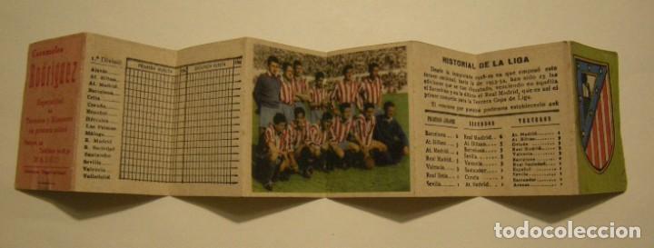 Coleccionismo deportivo: CALENDARIO DE LIGA 1ª DIVISION TEMPORADA 1954-55 PUBLICIDAD CARAMELOS RODRIGUEZ - Foto 4 - 186025712