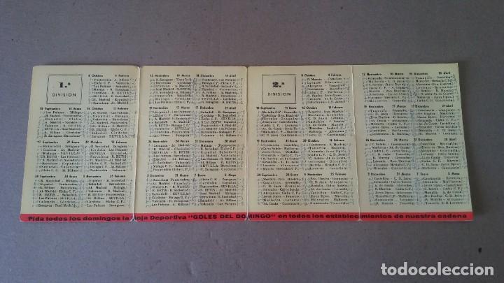 Coleccionismo deportivo: CALENDARIO CAMPEONATO NACIONAL DE LIGA TEMPORADA 1967 - 1968 - PUBLICIDAD CATUNAMBU - Foto 2 - 189108247