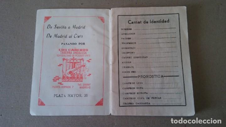 Coleccionismo deportivo: FÚTBOL CALENDARIO DE LIGA TEMPORADA 1967 - 1968 - PUBLICIDAD TABERNA ANDALUZA - Foto 2 - 189110032