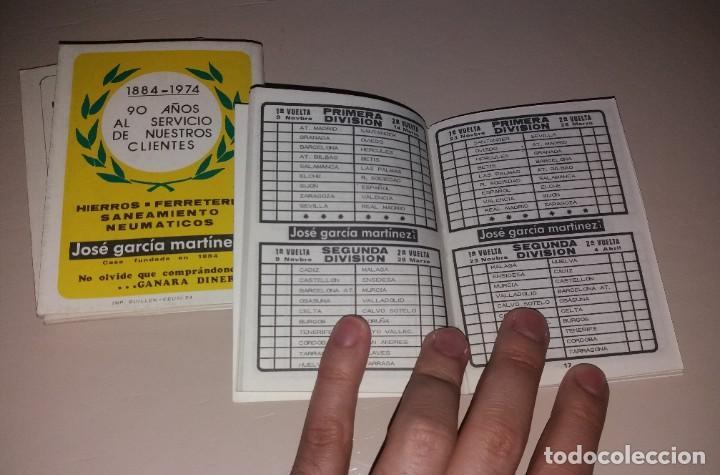 Coleccionismo deportivo: Calendarios fútbol. Liga 1973-74, 1974-75, 1975-76. Nuevos, publi José Martínez García - Foto 4 - 191396283