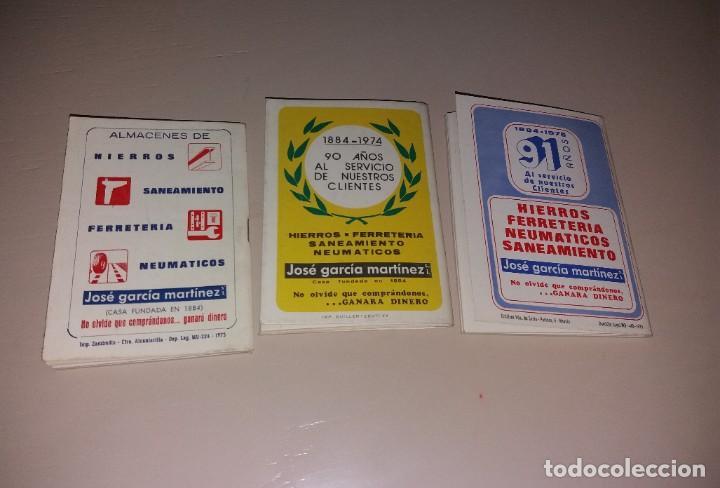Coleccionismo deportivo: Calendarios fútbol. Liga 1973-74, 1974-75, 1975-76. Nuevos, publi José Martínez García - Foto 5 - 191396283