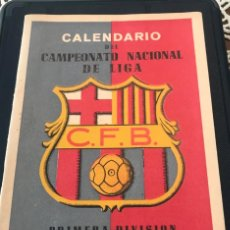 Coleccionismo deportivo: CALENDARIO DEL CAMPEONATO NACIONAL DE LIGA PRIMERA DIVISION 1953-1954, CLUB DE FUTBOL BARCELONA. Lote 192536665