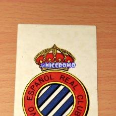 Coleccionismo deportivo: ESCUDO RCD ESPAÑOL 1980 1981 DE CROMOS DIDEC ES PLASTICO ADHESIVO 8X5 CMTOS ESPANYOL NICCROMO. Lote 193284452