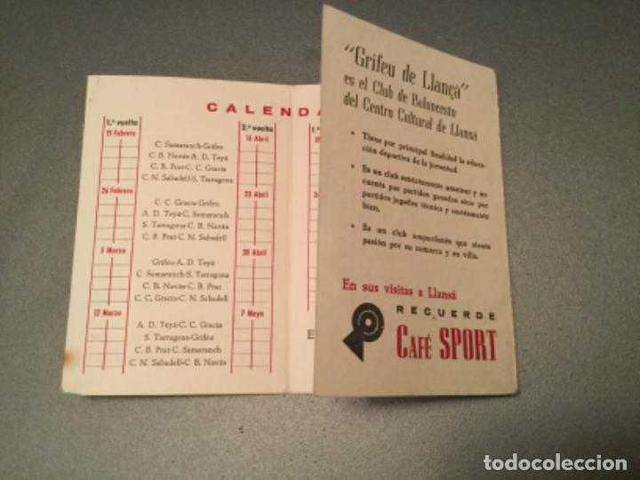 Coleccionismo deportivo: Campeonato cataluña, baloncesto.2º grupo.Fase final. cafe sport llansa, LLANÇA . grifeu, TEYA,ETC - Foto 2 - 193970025