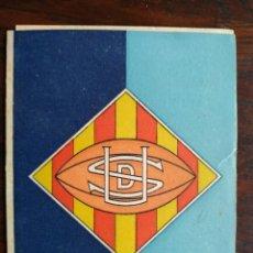 Coleccionismo deportivo: CALENDARIO DE ENCUENTROS DE RUGBY DE LA UNION DEPORTIVA SAMBOYANA 1960-61 EN SANT BOI DE LLOBREGAT. Lote 193986858