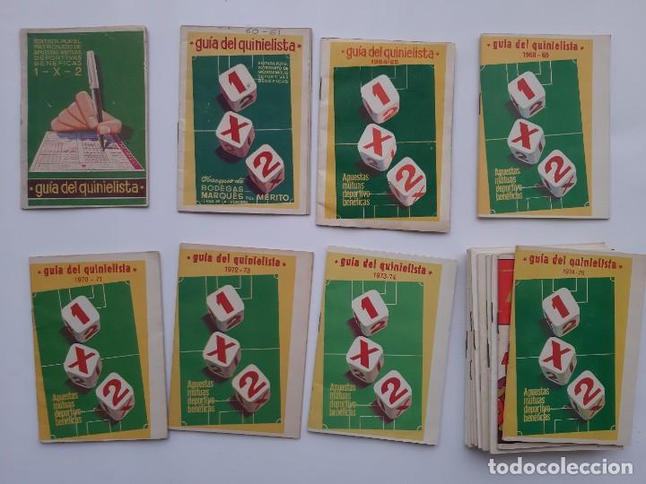 LOTE 17 GUIAS DEL QUINIELISTA AÑOS 1959 60, 60 61, 64 65, 68 69, 70 71, 72 73, 73 74, 74 75, 75 76.. (Coleccionismo Deportivo - Documentos de Deportes - Calendarios)