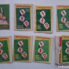 Coleccionismo deportivo: LOTE 17 GUIAS DEL QUINIELISTA AÑOS 1959 60, 60 61, 64 65, 68 69, 70 71, 72 73, 73 74, 74 75, 75 76... Lote 194170838