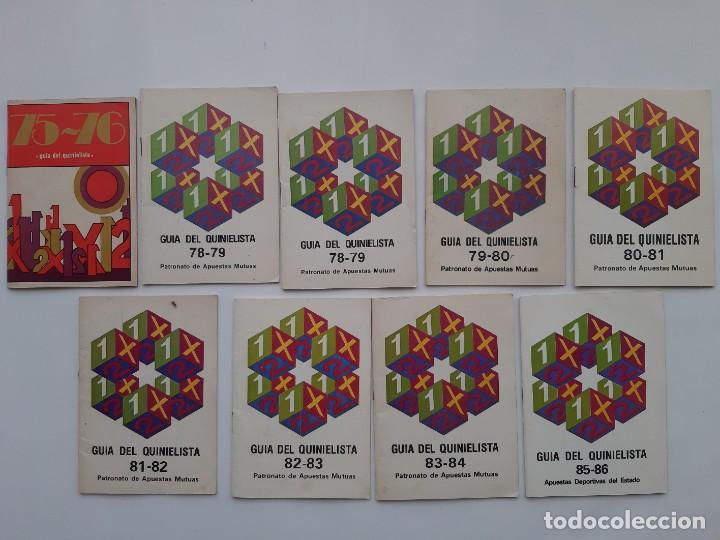 Coleccionismo deportivo: LOTE 17 GUIAS DEL QUINIELISTA AÑOS 1959 60, 60 61, 64 65, 68 69, 70 71, 72 73, 73 74, 74 75, 75 76.. - Foto 2 - 194170838