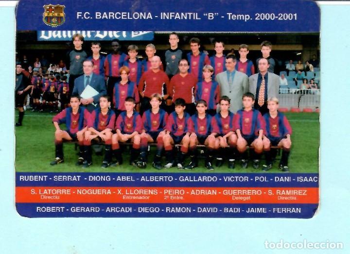 CALENDARIO DE F,C, BARCELONA INFANTIL B TEMPORADA 2000 - 2001 (Coleccionismo Deportivo - Documentos de Deportes - Calendarios)