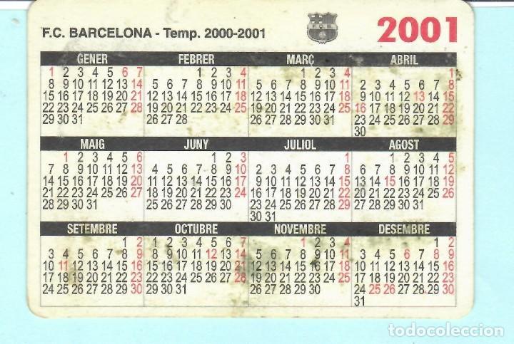 Coleccionismo deportivo: CALENDARIO DE F,C, BARCELONA INFANTIL B TEMPORADA 2000 - 2001 - Foto 2 - 194191790
