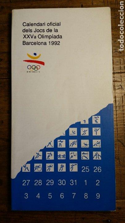 CALENDARIO OFICIAL BARCELONA 92. (EN CATALÁN) CALENDARI OFICIAL DELS JOCS OLIMPÍADA BARCELONA 92 (Coleccionismo Deportivo - Documentos de Deportes - Calendarios)