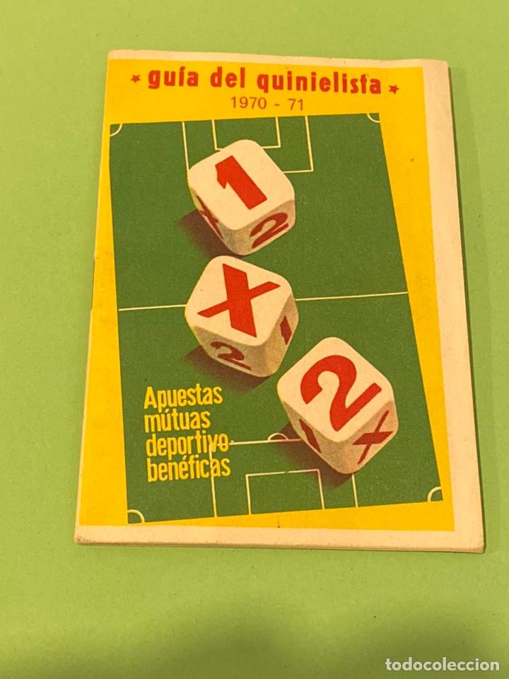 GUÍA QUINIELISTA 1970 USADA (Coleccionismo Deportivo - Documentos de Deportes - Calendarios)