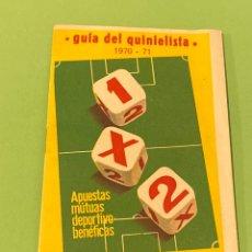 Coleccionismo deportivo: GUÍA QUINIELISTA 1970 USADA. Lote 194245646
